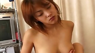 Hairy pussy Megumi Okui gets her pussy fingered and licked by a dude