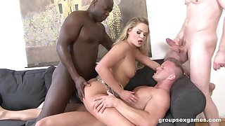 Barra Brass is between her horny friends during a wild threesome