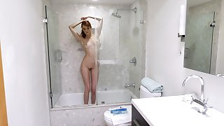 Hot Andi Rye masturbates in the bath using her fingers and a dirty mind