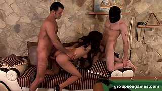 Latina pet merciless fucked roughly a wild group play