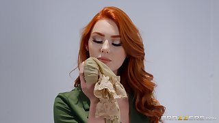 Redhead copier Lacy Lennon fucked in eradicate affect office by her boss