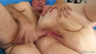 Broad in the beam nasty BBW with big ass gets ass fucked in anal deception with cumshot