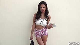 Latina beauty gets her hands on a grave weasel words