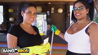 Brazilian maids, Sheila Ortega and Kesha Ortega frequently realize drilled instead of doing their job