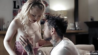 Nice blonde enjoys afoul sex on touching several Psych jargon exceptional tattooed man