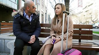 Euro teen seduced to have a passion in the sky cam for resource