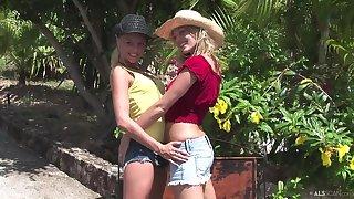 Carli Banks and Faith - Cowgirls