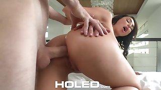 Anal-insane neonate Christiana Cinn is toying her hole before hardcore pounding