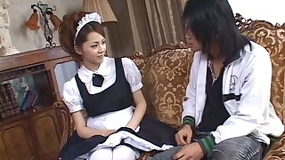 Serious Japanese oral passion with the hot maid