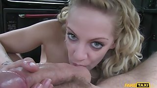 Cabbie Persuades Big-busted Blonde To Let Him Fill Her With His Cock